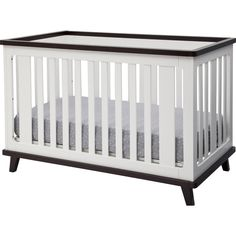 Delta Children Ava Convertible Crib Finish White With Black Espresso
