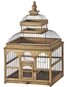 English Country Decor, The bird cage is both a house for the chickens and a decorative tool. You can choose whatever you want one of the bird cage models and get a great deal more particular images. English Country Decor, French Country Style, Asian Accessories And Decor, Asian Decor, Old Victorian Homes, Victorian Houses, Antique Bird Cages, Wood Bird, Ideas Hogar