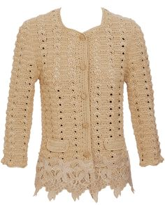 Dolce & gabbana Crochet and Lace Jacket in Gold (biscuit)