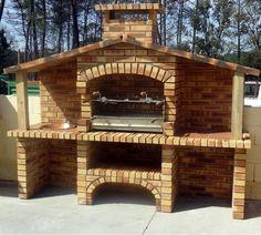 печь барбекю из кирпича фото Rustic Outdoor Fireplaces, Backyard Fireplace, Portable Barbecue, Barbecue Grill, Stone Bbq, Barbecue Garden, Outdoor Grill Station, Brick Bbq, Patio Grill