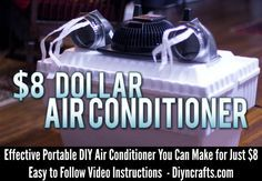 Effective Portable DIY Air Conditioner You Can Make for Just $8 – DIY Crafts