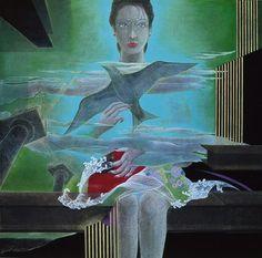 旅人  /  91 × 91cm (銀座ギャラリー企画展 2002)