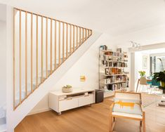Span # 4 The Keep Jo Townshend Architects Stairs Makeover Architects Span Townshend Stair Railing Design, Home Stairs Design, Interior Stairs, Home Interior Design, Interior Decorating, House Design, Stair Banister, Railings, Staircase Storage