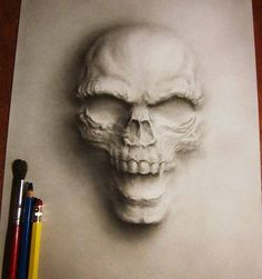 Jerameel Lu, a Civil Engineer and an artist from the Philippines, creates amazing pencil drawings rendered with his masterful application of shadows. Illusion Kunst, Illusion Art, Illustration Au Crayon, Totenkopf Tattoos, 3d Art, Drawn Art, Tatoo Art, 3d Drawings, Realistic Drawings