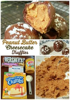 Peanut Butter Cheesecake Truffles (with graham cracker crumbs)