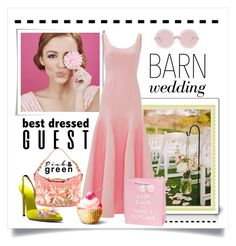 """""""Best Dressed"""" by conch-lady ❤ liked on Polyvore featuring Benefit, Valentino, Wildfox, Halston Heritage, bestdressedguest and barnwedding"""