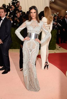 Best (& Worst) Dressed on the 2016 Met Gala Red Carpet | Alessandra Ambrosio in Balmain