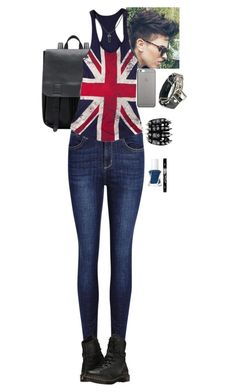 """""""Untitled #177"""" by mimikyu ❤ liked on Polyvore featuring Dr. Martens, Essie and Native Union"""