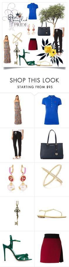 """fashion trends"" by denisee-denisee ❤ liked on Polyvore featuring Needle & Thread, Polo Ralph Lauren, Beyond Yoga, MICHAEL Michael Kors, Bea Bongiasca, EF Collection, Alcozer & J, Gucci and FAUSTO PUGLISI"