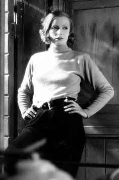 Greta Garbo looking wonderful even in that common outfit. It makes me wonder mgm…