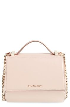 GIVENCHY 'Mini Pandora Box' Leather Shoulder Bag. #givenchy #bags #shoulder bags #hand bags #suede #lining