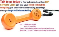 ERP Software Suppliers Should Arrange Lead Generation, Not Cloud Computing Companies, Lead Generation, How To Find Out, Software, Led