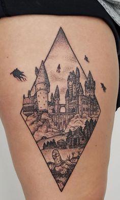 The first of my many Harry Potter tattoos. - The first of my many Harry Potter tattoos. - : The first of my many Harry Potter tattoos. - The first of my many Harry Potter tattoos. Hogwarts Tattoo, Hp Tattoo, Body Art Tattoos, Tattoo Quotes, Hedwig Tattoo, Storm Tattoo, Dark Tattoo, Tattoo Drawings, Trendy Tattoos