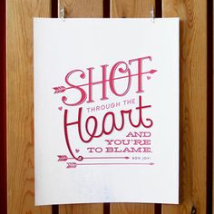 Shot Through The Heart Print, $14, now featured on Fab.