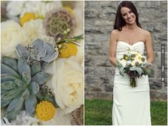 Yellow & Grey & Succulents | CHECK OUT MORE IDEAS AT WEDDINGPINS.NET | #weddings #weddingflowers #weddingbouquets #bouquets