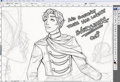 Elend Venture (Mistborn).  First good drawing I've seen of him!