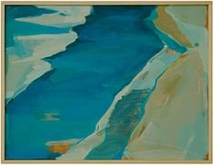 """""""From Above III"""" by Karen Smidth, $1,050, 13"""" x 10"""", available at Serena & Lily. #serenaandlily"""