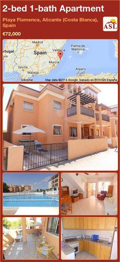 2-bed 1-bath Apartment in Playa Flamenca, Alicante (Costa Blanca), Spain ►€72,000 #PropertyForSaleInSpain