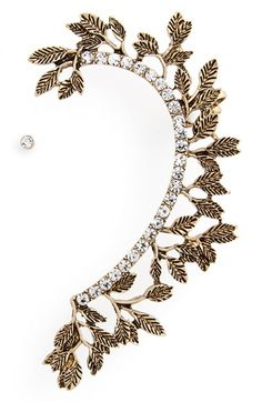 Leith Crystal Leaf Ear Cuff available at #Nordstrom