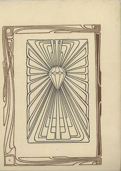 Peter Behrens, artwork for jubilee Programme, page Munich. Online via University of Heidelberg. Jugendstil Design, Flower Ornaments, Art Nouveau, History, Creative, Illustration, Artwork, Monopoly Board, Art