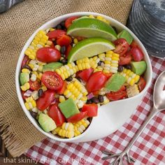 This delightful Corn and Black Bean Salad features the peak of season sweet corn and just shouts summer!