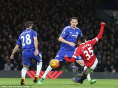 Jesse Lingard scores a great goal against Chelsea at Stamford Bridge in February 2016.