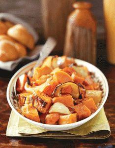 Rosh Hashanah - Jewish New Year - Recipe Box: Sweet Potato & Apple Tzimmes