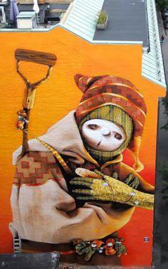 Inti Castro – Treasure Hunter New Mural @ Oslo, Norway