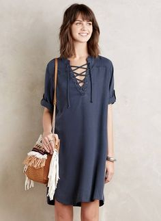 Linen Solid Short Sleeve Above Knee Casual Dresses (1016955) @ floryday.com