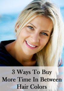 3 Ways to buy more time in between hair colors.