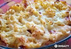Sonkás-karfiolos-sajtkrémes tészta sütőben sütve | NOSALTY