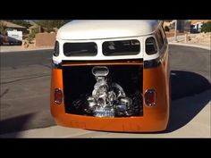 VW Bus Burnout, Volkswagen T1 Bully with Turbo Engine, Barn Door Short Bus