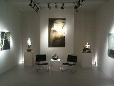 Mint, art fair in Milan. Salamon's stand. Artist exhibited: Mario Tamer, Ugo Riva, Luciano Zanoni.