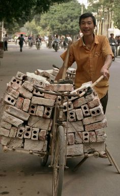 Bicycle carrying bricks; HaNoi, Vietnam | Flickr - Photo Sharing!