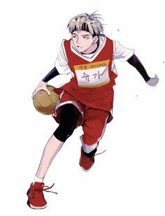 """Slam Dunk"" Anime Version of ""Min Suga"" Fanart Manga, Fanart Bts, Manga Anime, Fanarts Anime, Anime Art, Taehyung Fanart, Bts Chibi, Yoonmin, K Pop"