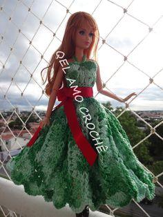 #Vestido #Barbie #Doll #crochet #RaquelGaucha
