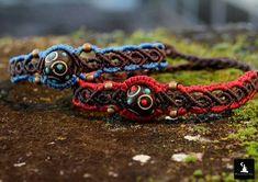 Macrame bracelet with handmade clay beads boho bracelet, gypsy bracelet, bohemian jewelry, hippie bracelet, bohemian bracelet, ready to ship
