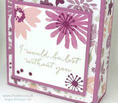 Stampin' Up! Demonstrator Pootles – Tall Wide Box using Blooms & Bliss.   Click through for full details and video!