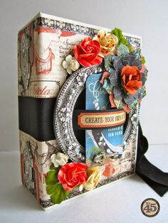 Paperiah: Graphic 45 Party in a Box! Product: Book Box, Shabby Chic Metal Staples, ATC Tags
