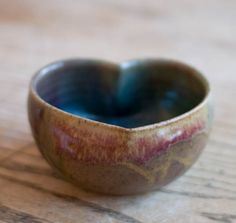 Heart bowlLarge 5x225 by redhotpottery on Etsy