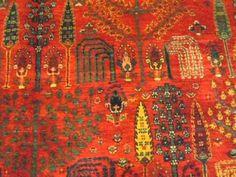10 x 14 Tree of Life, Persian Bidjar. Beautiful Tribal Rug in Jewel Tones!