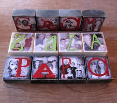 Personalized GIFT Photo Blocks