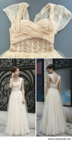 Champagne Chiffon Dress