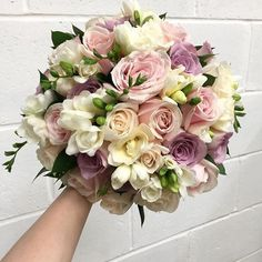 Pastel delight from Bridal Flowers, Flower Bouquet Wedding, Floral Wedding, Rustic Wedding, Beautiful Flower Arrangements, Floral Arrangements, Beautiful Flowers, Spring Wedding Decorations, Summer Wedding Colors