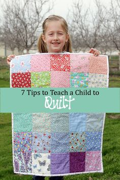 children's quilting, teaching a child to quilt www.sew-handmade.blogspot.com