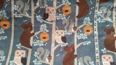 Owl Flannel fabric with bears squirrel cotton print quilters quilting sewing material by the yard BTY  bear flannel owl fabric trees by ConniesQuiltFabrics from ConniesQuiltFabric. Find it now at http://ift.tt/2d5LtNP! http://ift.tt/24HwgZX.