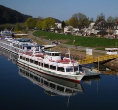 Moselle River boat in Trier in Germany
