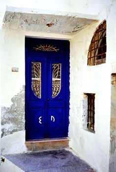 Cobalt in Sifnos, Cyclades  ...I'm determined to have a door this color.