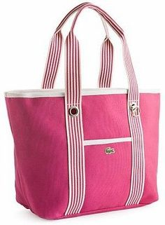 A beach tote bag with a durable rope handle.Nautical-Beach-Bag (on the list)Nautical Canvas Beach Bag The perfect giant bag for the beach or the pool and made from a painting drop cloth!Inspration no Pattern -beach bagWomen's Poly Dip Nautical Tote f Fashion Handbags, Tote Handbags, Lacoste Bag, Tote Backpack, Beach Tote Bags, Patchwork Bags, Denim Bag, Fabric Bags, Shopper