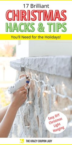 These Christmas hacks & tips will make your holidays cheaper, easier, and more festive! The Krazy Coupon Lady has all the DIY Christmas decoration crafts, Christmas light hanging hacks, Christmas tree decorating tips, holiday party ideas, DIY Christmas cookie plate ideas, decor, creative gift wrapping tips, DIY Christmas party place card holders, and even how to make your home smell Christmassy. #diychristmasdecorations #christmashacks #christmasdiycrafts Christmas Tree Decorating Tips, Diy Christmas Decorations For Home, Diy Christmas Lights, Christmas Hacks, Outdoor Christmas, Christmas Projects, Decoration Crafts, Diy Christmas Food Gifts, Chritmas Diy